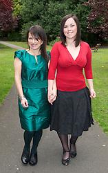 CROSBY, ENGLAND - Saturday, September 18, 2010: Maria Bennett and daughter Veronica. (Pic by David Rawcliffe/Propaganda)