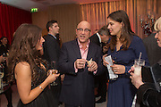 GREGG WALLACE; SOPHIE WINKLEMAN; JUDY FINNIGAN, Pre -drinks at the St. Martin's Lane Hotel before a performance of the English National Ballet's Nutcracker: London Coliseum.12 December 2013
