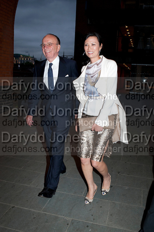 RUPERT MURDOCH; WENDI DENG, Summer party hosted by Rupert Murdoch. Oxo Tower, London. 17 June 2009
