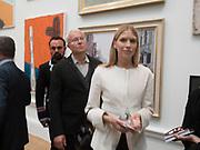 EVGENY LEBEDEV; ELENA PERIMNOVA; ALEXANDER LEBEDEV; ,,, Royal Academy of Arts Summer Party. Burlington House, Piccadilly. London. 7June 2017
