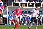 Wrexham Forward Jordan White scores a goal 1-3 during the Vanarama National League match between Bromley FC and Wrexham FC at Hayes Lane, Bromley, United Kingdom on 8 April 2017. Photo by Jon Bromley.