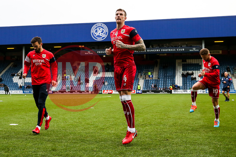 Aden Flint in action as Bristol City warm up - Rogan/JMP - 23/12/2017 - Loftus Road - London, England - Queens Park Rangers v Bristol City - Sky Bet Championship.