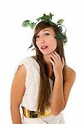 Greek Goddess On white Background