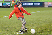 Half time penalty shoot out during the EFL Sky Bet League 2 match between Forest Green Rovers and Salford City at the New Lawn, Forest Green, United Kingdom on 18 January 2020.