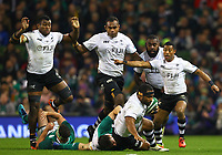 Rugby Union - 2017 Guinness Series (Autumn Internationals) - Ireland vs. Fiji<br /> <br /> Talemaitoga Tuapati (Fiji) is tackled by Jack Conan (Ireland), at the Aviva Stadium.<br /> <br /> COLORSPORT/KEN SUTTON