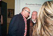 HARRY ENFIELD; SIR PETER BLAKE, Humphrey Ocean. The launch of the book: ' A handbook of modern life'  and an exhibition of portraits on paper. National Portrait Gallery. London.  13 December 2012.