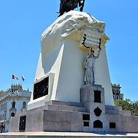 General Jos&eacute; de San Martin Equestrian Statue in Lima, Peru<br />