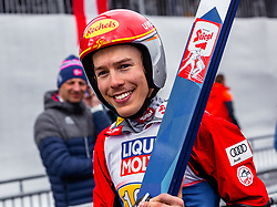 28.02.2019, Seefeld, AUT, FIS Weltmeisterschaften Ski Nordisch, Seefeld 2019, Nordische Kombination, Team Sprung, im Bild Franz-Josef Rehrl (AUT) // Franz-Josef Rehrl of Austria during Team Jumping competition for Nordic Combined of FIS Nordic Ski World Championships 2019. Seefeld, Austria on 2019/02/28. EXPA Pictures © 2019, PhotoCredit: EXPA/ Stefanie Oberhauser