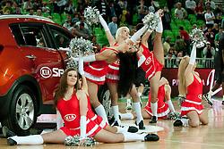 Cheerleaders Ice Ladies during final match of Basketball NLB League at Final Four tournament between KK Union Olimpija (SLO) and Partizan Belgrade (SRB), on April 21, 2011 at SRC Stozice, Ljubljana, Slovenia. (Photo By Matic Klansek Velej / Sportida.com)