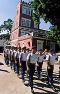 training and parade in the Police school, Taipa island. Macau  ///  Macao: école de police de Taipa; lever du drapeau /// R211/9    L3113  /  R00211  /  P0006582