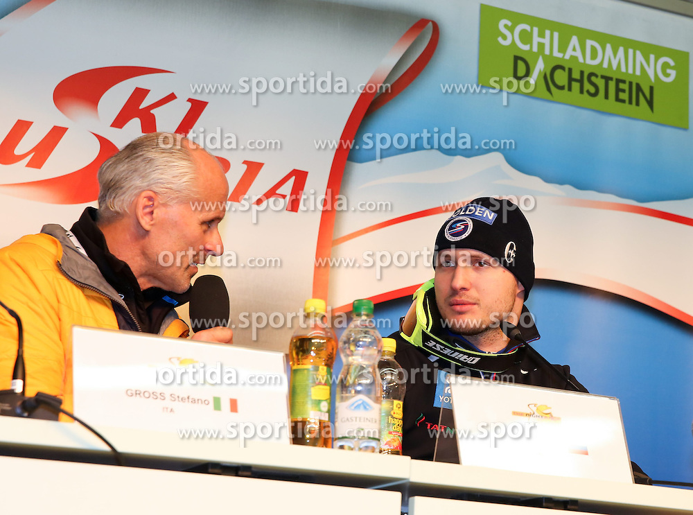 27.01.2015, Planai, Schladming, AUT, FIS Weltcup Ski Alpin, Nightrace, Slalom, Herren, Pressekonferenz, im Bild Alexander Khoroshilov (RUS) // Alexander Khoroshilov of Russia at the press conference after mens slalom of the Schladming FIS Ski Alpine World Cup at the Planai course in Schladming, Austria on 2015/01/27. EXPA Pictures © 2015, PhotoCredit: EXPA/ Martin Huber