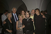 Sir Evelyn and Lady de Rothschild and Blake Viola, Kira Viola, Bill Viola and Andrei Viola, VIP opening of Bill Viola exhibition Love/Death: The Tristan project. Haunch of Venison, St Olave's College, Tooley St. London and Dinner afterwards at Banqueting House. Whitehall. 19 June 2006. ONE TIME USE ONLY - DO NOT ARCHIVE  © Copyright Photograph by Dafydd Jones 66 Stockwell Park Rd. London SW9 0DA Tel 020 7733 0108 www.dafjones.com