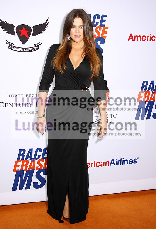 Khloe Kardashian at the 19th Annual Race To Erase MS held at the Hyatt Regency Century Plaza in Century City, USA on May 18, 2012.