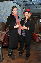 Left to right, GEORGIE CLEEVE and VENETIA VAN KUFFELER at a ladies lunch hosted by Thomasina Miers at her restaurant Wahaca, 19-23 Charlotte Street, London W1 on 17th January 2013.