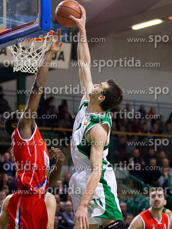 Uros Lucic of Krka during basketball match between KK Krka and Radnicki (SRB) in 20th Round of ABA League, on February 3, 2013 in Arena Leon Stukelj, Novo mesto, Slovenia. (Photo By Vid Ponikvar / Sportida.com)