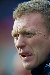 BIRMINGHAM, ENGLAND - Saturday, March 13, 2010: Everton's manager David Moyes before the Premiership match against Birmingham City at St Andrews. (Photo by David Rawcliffe/Propaganda)