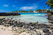 Niumalu Beach at Kailua Bay, Kailua-Kona, The Big Island, Hawaii USA