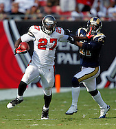 OCTOBER 24, 2010, TAMPA, FL: Running Back LeGarrette Blount #27 of the Tampa Bay Buccaneers during the game against the St. Louis Rams at Raymond James Stadium on October 24, 2010 in Tampa, Florida. The Buccaneers won 18-17. (photo by Mike Carlson/Tampa Bay Buccaneers)