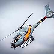 Aspa Patrol (Spanish Air Force's helicopters acrobatic patrol) in Aire 75 International Airshow