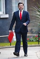 © Licensed to London News Pictures. 16/03/2016. London, UK. Welsh Secretary STEPHEN CRABB attending to a cabinet meeting in Downing Street on the Budget Day, Wednesday, 16 March 2016. Photo credit: Tolga Akmen/LNP