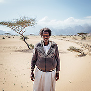 Ahmed, a Bishari bedouin from the Beja tribe on the way to Gebel Elba. Bisharia bedouins are nomads living in the area between the Nile and the Red Sea, in the vicinity of Southern Egypt and north Sudan.