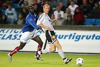 Fotball, 27. juli 2003, Tippeligaen, Vålerenga-Rosenborg 0-1,  Torjus Hansen, Rosenborg og Pa-Modou Kah, Vålerenga