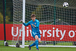 NEWPORT, WALES - Monday, October 14, 2019: Wales' goalkeeper Lewis Webb during an Under-19's International Friendly match between Wales and Austria at Dragon Park. (Pic by David Rawcliffe/Propaganda)