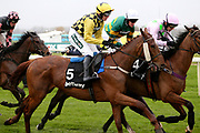 Melon and P Townend (5) in the 3.25pm The Betway Aintree Hurdle (Grade 1) 2m 4fduring the Grand National Festival Week at Aintree, Liverpool, United Kingdom on 4 April 2019.