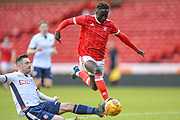 Nottingham Forest U23's Virgil Gomis during the U23 Professional Development League Play-Off Final match between Nottingham Forest and Bolton Wanderers at the City Ground, Nottingham, England on 4 May 2018. Picture by Jon Hobley.