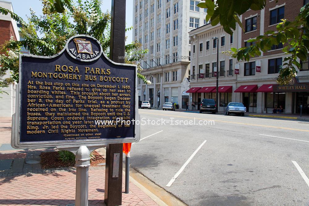 Rosa Parks bus stop Montgomery, AL, USA