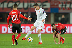 March 21, 2019 - Vienna, Austria - (L-R) Stefan Lainer of Austra, Robert Lewandowski of Poland and Aleksandar Dragovic of Austra during the UEFA European Qualifiers 2020 match between Austria and Poland at Ernst Happel Stadium in Vienna, Austria on March 21, 2019. (Credit Image: © Foto Olimpik/NurPhoto via ZUMA Press)