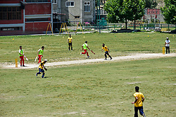 June 30, 2019 - Srinagar, J&K, India - Kashmiri visually impaired cricket players in action during the match in Srinagar,.The first ever blind cricket tournament was organized by J&K Handicapped Association and Disable People's Trust for the visually-impaired players here in Srinagar. The motive behind this tournament is to encourage players to take part in sports events and boost their morals so that they can also make a career in sports. (Credit Image: © Saqib Majeed/SOPA Images via ZUMA Wire)
