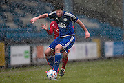 Scott McManus (Halifax) during the Vanarama National League match between FC Halifax Town and Welling United at the Shay, Halifax, United Kingdom on 30 January 2016. Photo by Mark P Doherty.