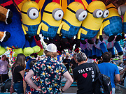 14 AUGUST 2019 - DES MOINES, IOWA: A game on the midway at the Iowa State Fair. The Iowa State Fair is one of the largest state fairs in the U.S. More than one million people usually visit the fair during its ten day run. The 2019 fair run from August 8 to 18.                PHOTO BY JACK KURTZ