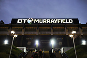 Stadium before the Guinness Pro 14 2017_18 match between Edinburgh Rugby and Glasgow Warriors at Murrayfield, Edinburgh, Scotland on 23 December 2017. Photo by Kevin Murray.
