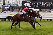 Show Me The Bubbly ridden by Liam Jones and trained by John O'Shea in the Avon Valley Cleaning And Restoration Handicap race. Thegreyvtrain ridden by Nicola Currie and trained by Ronald Harris in the Avon Valley Cleaning And Restoration Handicap race.  - Ryan Hiscott/JMP - 06/05/2019 - PR - Bath Racecourse- Bath, England - Kids Takeover Day - Monday 6th April 2019