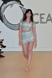 DAISY LOWE modelling at Fashions for The Future presented by Oceana's Junior Council held at Phillips Auction House, 30 Berkeley Square, London on 19th March 2015.