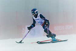 SCHWARTZ Melanie competing in the Alpine Skiing Super Combined Slalom at the 2014 Sochi Winter Paralympic Games, Russia