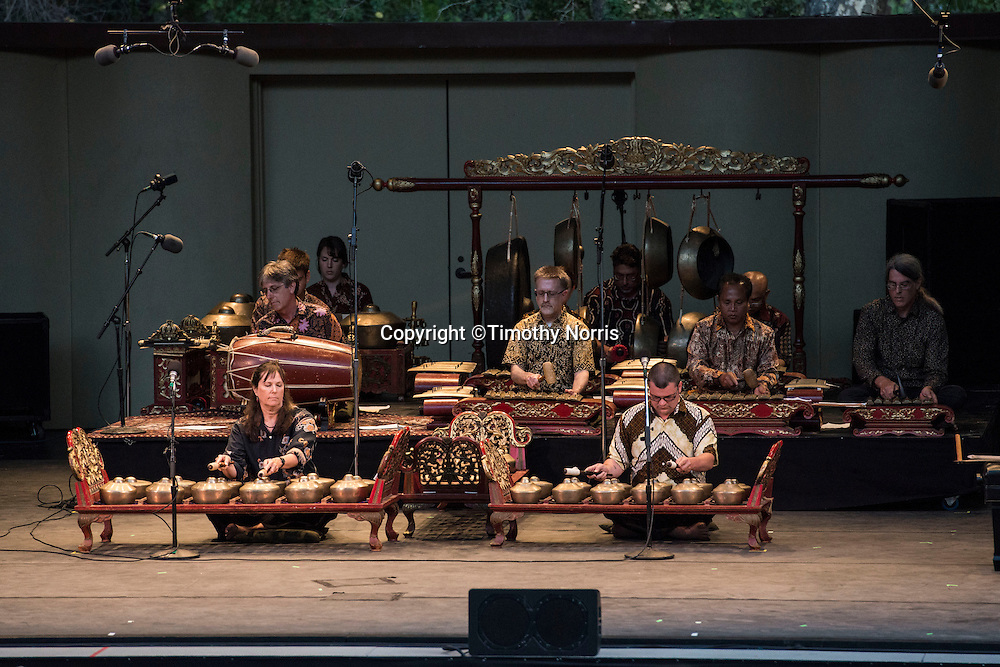 "Colin Fowler and Gamelan Sari Raras perform Lou Harrison's ""Concerto for Piano with Javanese Gamelan"" at Libbey Bowl on June 9, 2013 in Ojai, California."