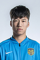**EXCLUSIVE**Portrait of Chinese soccer player Zhang Xiaobin of Jiangsu Suning F.C. for the 2018 Chinese Football Association Super League, in Nanjing city, east China's Jiangsu province, 23 February 2018.