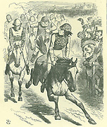 The Derby, 1867. Dizzy Wins with 'Reform Bill'': Disraeli introduced a new Reform Bill in 1867.  John Tenniel cartoon from 'Punch', London, 25 May 1867 showing Disraeli beating Gladstone to the winning post.