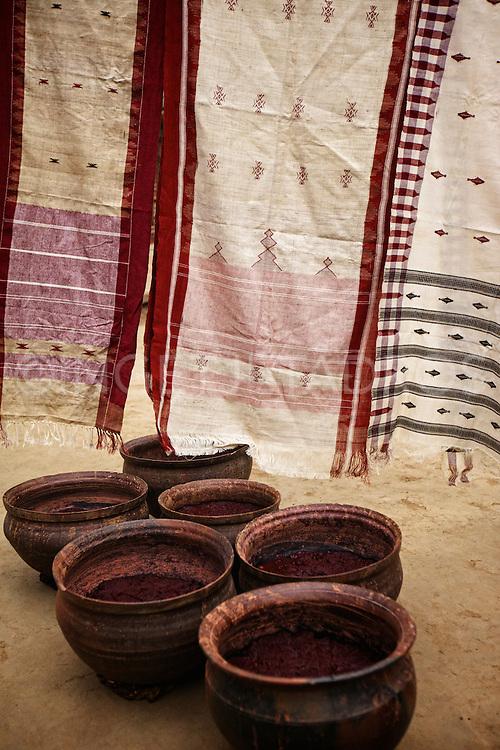 Ikat weaving in Kotpad, Orissa, India