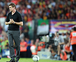 Barcelona coach Tito Vilanova watches from the touchline.  Barcelona v Real Madrid, Supercopa first leg, Camp Nou, Barcelona, 23rd August 2012...Credit : Eoin Mundow/Cleva Media