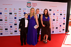 LIVERPOOL, ENGLAND - Thursday, May 10, 2018: Guests arrive on the red carpet for the Liverpool FC Players' Awards 2018 at Anfield. (Pic by David Rawcliffe/Propaganda)