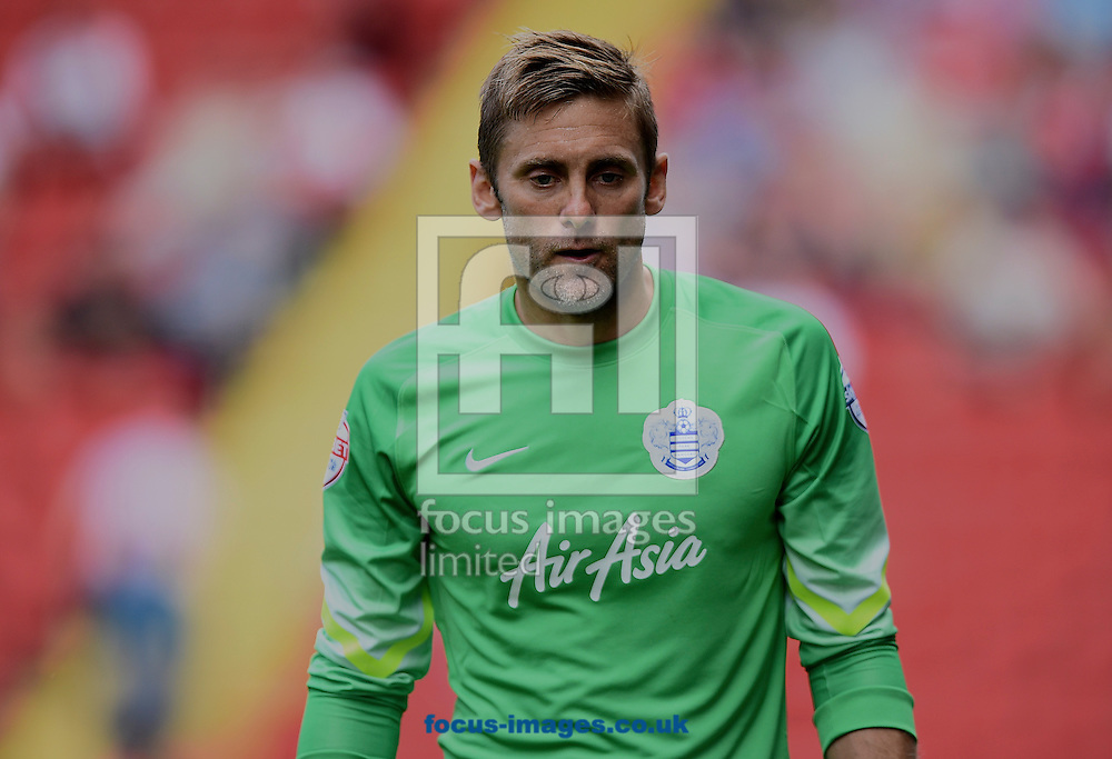 Goalkeeper Robert Greenof Queens Park Rangers during the Sky Bet Championship match at The Valley, London<br /> Picture by Alan Stanford/Focus Images Ltd +44 7915 056117<br /> 08/08/2015