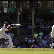 Australian captain Ricky Ponting takes evasive action from a shot from South African batsman Neil McKenzie  during day four of the third test match between Australia and South Africa at the Sydney Cricket Ground on January 6, 2009 in Sydney, Australia. Photo Tim Clayton