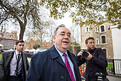 © Licensed to London News Pictures. 29/03/2017. London, UK. ALEX SALMOND, Former Minister of Scotland, on College Green outside Parliament. Prime Minister Theresa May will trigger Article 50 today, which will begin formal proceedings for Britain to leave the European Union. Photo credit: Rob Pinney/LNP