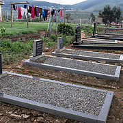 Graves in a house yard in Vulindlela, KwaZulu Natal. Today, HIV/Aids is the leading cause of death among adolescents in South Africa. An estimated 2000 South African young women between the age of 15-24 years get infected with HIV every week. Vulindlela, South Africa. 7 November 2017. © Miora Rajaonary / Wall Street Journal