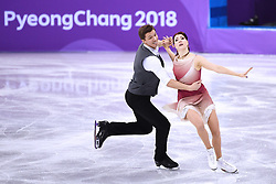 PYEONGCHANG, Feb. 12, 2018  Olympic atheletes from Russia Ekaterina Bobrova (R) and Dmitri Soloviev compete during the ice dance free dance of figure skating team event at the 2018 PyeongChang Winter Olympic Games, in Gangneung Ice Arena, South Korea, on Feb. 12, 2018. Olympic atheletes from Russia  won the silver medal of figure skating team event with 66 points in total. (Credit Image: © Ju Huanzong/Xinhua via ZUMA Wire)