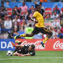 Michy Batshuayi of Belgium during the FIFA World Cup Group G match between Belgium and Tunisia at Spartak Stadium on June 23, 2018 in Moscow, Russia. (Photo by Anthony Dibon/Icon Sport)
